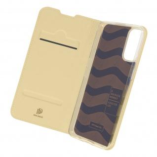Klappetui mit Kartenfach & Standfunktion für Oppo Reno 4 ? Gold