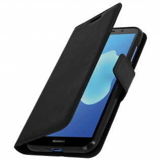 Flip Stand Cover Brieftasche & Standfunktion Huawei Y5 2018/Honor 7S - Schwarz