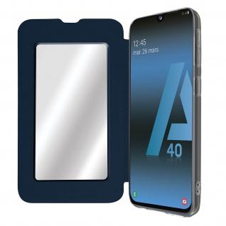 Spiegel Hülle, dünne Klapphülle für Samsung Galaxy A40 - Dunkelblau