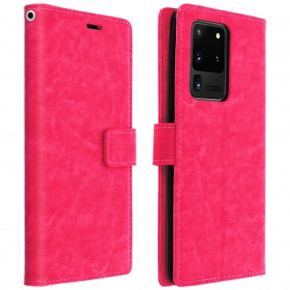 Flip Cover Stand Case Brieftasche & Standfunktion Galaxy S20 Ultra - Rosa