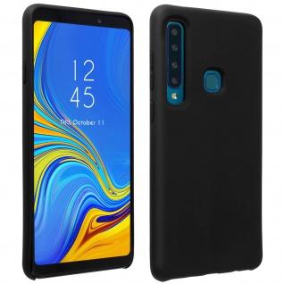 Halbsteife Silikon Handyhülle Galaxy A9 2018, Soft Touch - Schwarz
