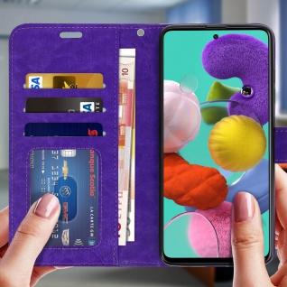 Flip Cover Stand Case Brieftasche & Standfunktion Samsung Galaxy A71 - Violett - Vorschau 3