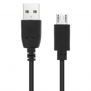 USB 2.0 Micro-USB Ladekabel, Quick Charge Aufladen & Sync. 1.2 m - Schwarz
