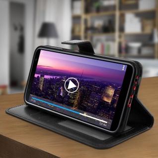 Flip Cover Stand Case Brieftasche & Standfunktion für Galaxy J6 Plus - Schwarz - Vorschau 3