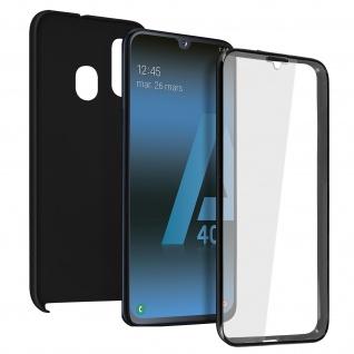 Schutzhülle für Samsung Galaxy A40, Vorder- + Rückseite ? Schwarz
