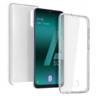 Schutzhülle für Samsung Galaxy A50, Vorder- + Rückseite ? Transparent