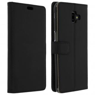Samsung Galaxy J6 Plus Flip-Cover mit Kartenfächern & Standfunktion - Schwarz