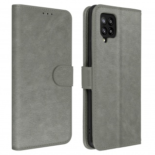 Flip Cover Geldbörse, Etui Kunstleder für Galaxy A42 5G ? Grau