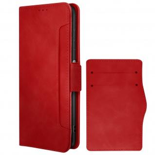 Nokia G20 / G10 Klappetui mit Geldbörse + abnehmbares Kartenfach ? Rot