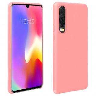 Halbsteife Silikon Handyhülle Huawei P30, Soft Touch - Rosa