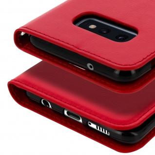 Flip Stand Cover Brieftasche & Standfunktion für Samsung Galaxy S10e - Rot - Vorschau 5