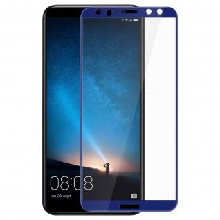 Huawei Mate 10 Lite Hartglas Displayschutzfolie Blau - Bruchsicher