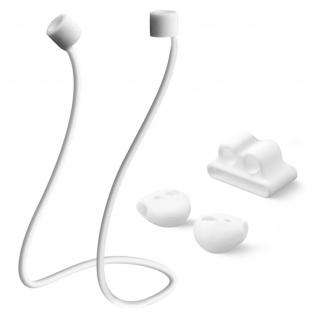Zubehörset Kopfhörer Umhängeband Kopfhörerhalterung 4Smarts Weiß