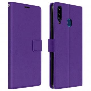 Flip Stand Case Brieftasche & Standfunktion für Samsung Galaxy A20s ? Violett