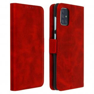 Klapphülle mit Kartenfächer / Standfunktion für Samsung Galaxy A71 ? Rot