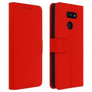 LG K40s Flip-Cover mit Kartenfächern & Standfunktion - Rot