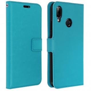 Flip Cover Stand Case Brieftasche & Standfunktion für Huawei P20 Lite - Blau