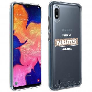 """Handyhülle für Samsung Galaxy A10 / M10, Made in France ? """" Paillettes"""" Design"""