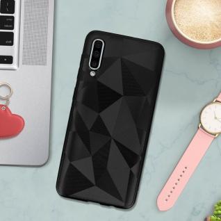 Holographische Handyhülle für Samsung Galaxy A50, Prism Design, Mocca - Schwarz - Vorschau 3