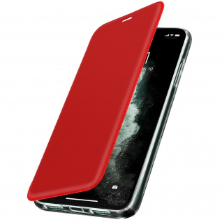 Spiegel Hülle, dünne Klapphülle für Apple iPhone 11 Pro Max - Rot