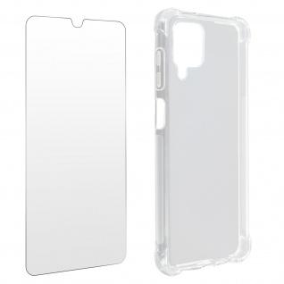 Premium Schutz-Set Samsung Galaxy A12: Schutzhülle + Schutzfolie ? Transparent