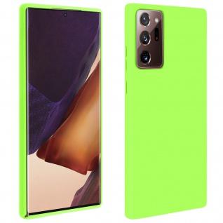 Halbsteife Silikon Handyhülle Samsung Galaxy Note 20 Ultra, Soft Touch - Grün