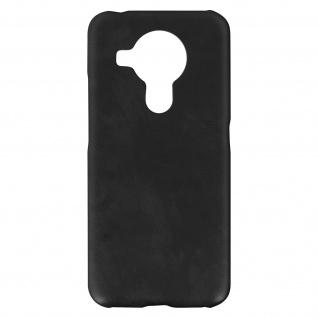 Nokia 5.4 / 3.4 Kunstlederhülle, Handyhülle mit Silikon Bumper - Schwarz