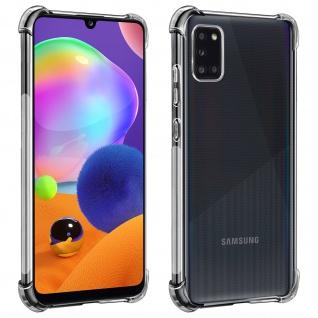 Akashi Samsung Galaxy A31 Silikon Bumper Hülle, stoßfest - Transparent
