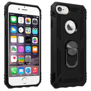 Hybrid Handyhülle mit Ring Halterung für Apple iPhone 6/6S/7/8 - Schwarz