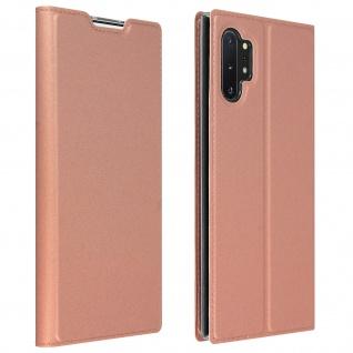 Flip Cover, Klappetui mit Kartenfach & Standfunktion Galaxy Note 10Plus Rosegold