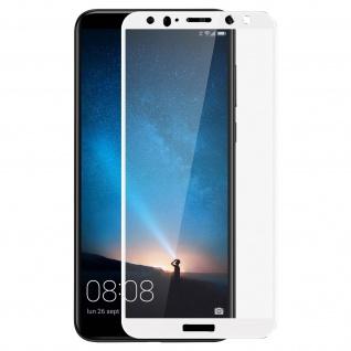 Bruchsichere Glas Displayschutzfolie Schutz für Huawei Mate 10 Lite - Rand Weiß