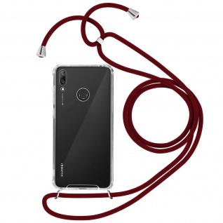 Handykette Handyhülle mit Halsband für Huawei Y7 2019 - Rot