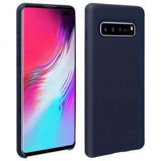 Halbsteife Silikon Handyhülle Samsung Galaxy S10 Plus, Soft Touch - Dunkelblau