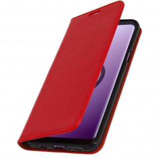 Samsung Galaxy S9 Plus Flip-Cover aus Echtleder im Brieftaschenstil - Rot