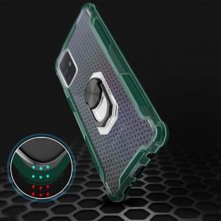 Hybrid Handyhülle mit Ring Halterung für Galaxy A51 - Grün - Vorschau 4