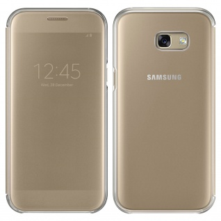 Original Samsung Clear View Cover für Samsung Galaxy A5 2017 - Gold