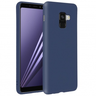 Forcell Samsung Galaxy A8 Soft Touch Silikonhülle, soft case - Dunkelblau