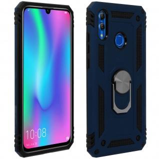 Hybrid Hülle mit Ring Halterung für Huawei P Smart 2019, Honor 10 Lite - Blau