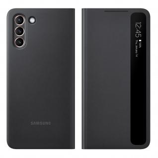 Original Samsung Clear View Cover, Klapphülle für Samsung Galaxy S21 - Schwarz