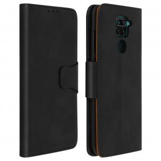 Flip Stand Case Brieftasche & Standfunktion für Xiaomi Redmi Note 9 - Schwarz