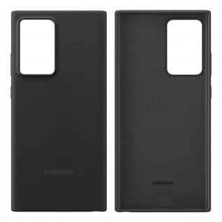 Original Samsung Soft Touch Cover Silikon Samsung Galaxy Note 20 Ultra - Schwarz