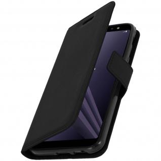 Flip Cover Stand Case Brieftasche & Standfunktion für Galaxy A6 Plus - Schwarz