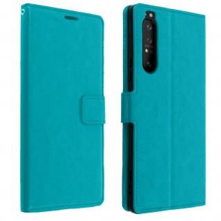 Flip Stand Case Brieftasche & Standfunktion für Sony Xperia 1 II - Blau
