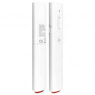 Präsentationsfernbedienung Laserpointer (30m), USB C & USB, Baseus - Weiß