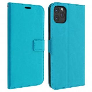 Flip Cover Stand Case Brieftasche & Standfunktion iPhone 11 Pro Max - Türkisblau