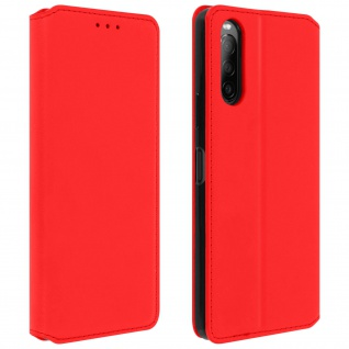 Kunstleder Cover Classic Edition Sony Xperia 10 II � Rot