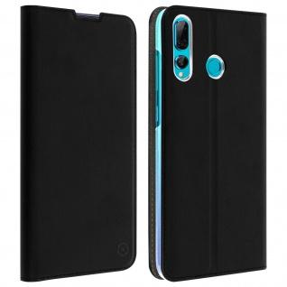 Muvit Flip Wallet Cover, Handyhülle für Huawei P Smart Plus 2019 - Schwarz