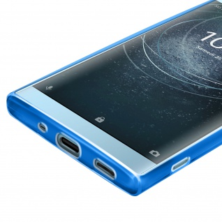 Gelhülle, Backcover für Sony Xperia XA2, Anti-Fingerabdruck, flexibel - Blau - Vorschau 5
