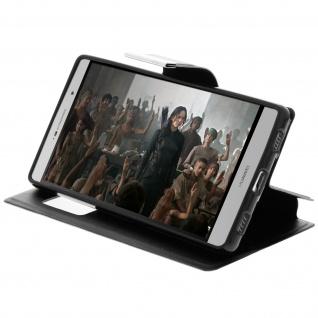 Flip-Schutzhülle mit Sichtfenster für Huawei P8 - Schwarz - Vorschau 4