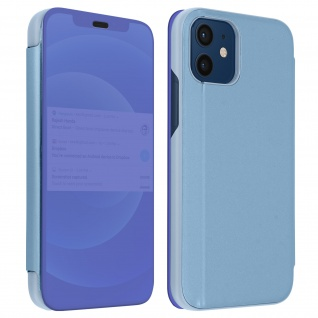 Apple iPhone 12 Mini View Cover mit Spiegeleffekt & Standfunktion - Blau
